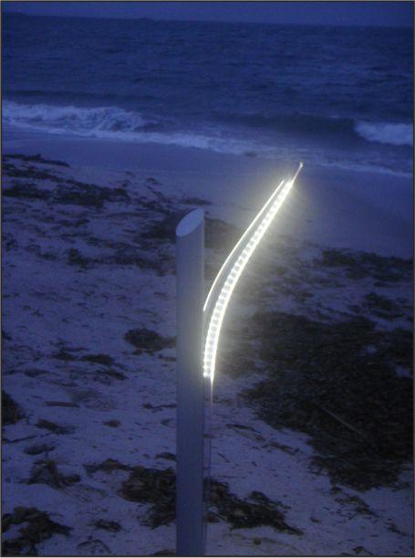Lampada da esterno installazione mare