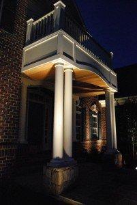 illuminazione esterna villa colonne