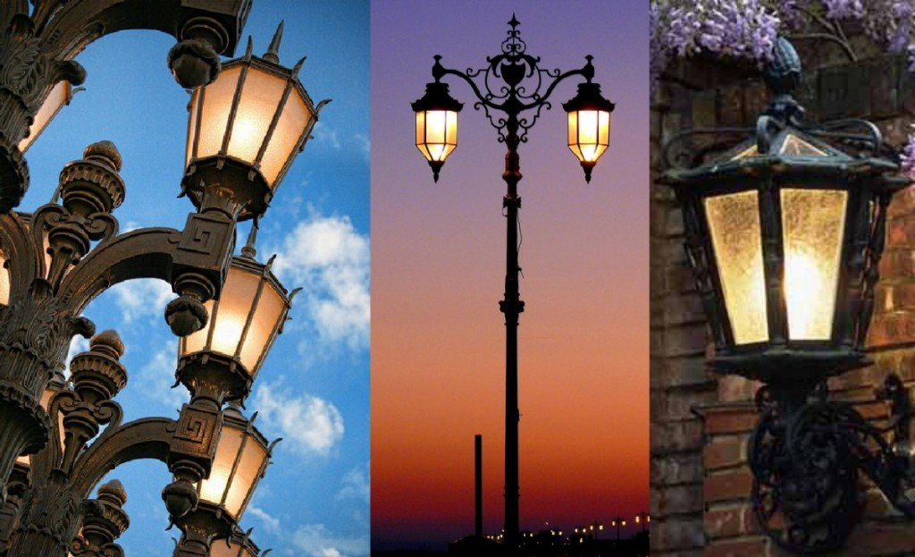 Lanterne a luci led per lampioni da giardino